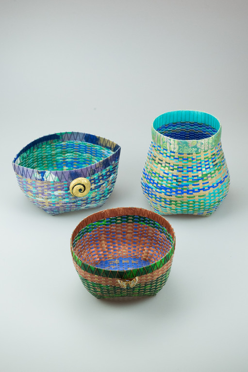 Trio of Cathead Baskets