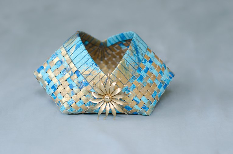 Something Olde, Something New, Something Borrowed, Something Blue Wedding Kimono Basket
