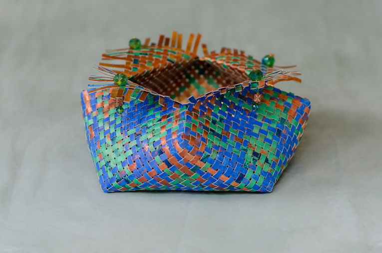Cobalt Verte Copper Treasure Chest